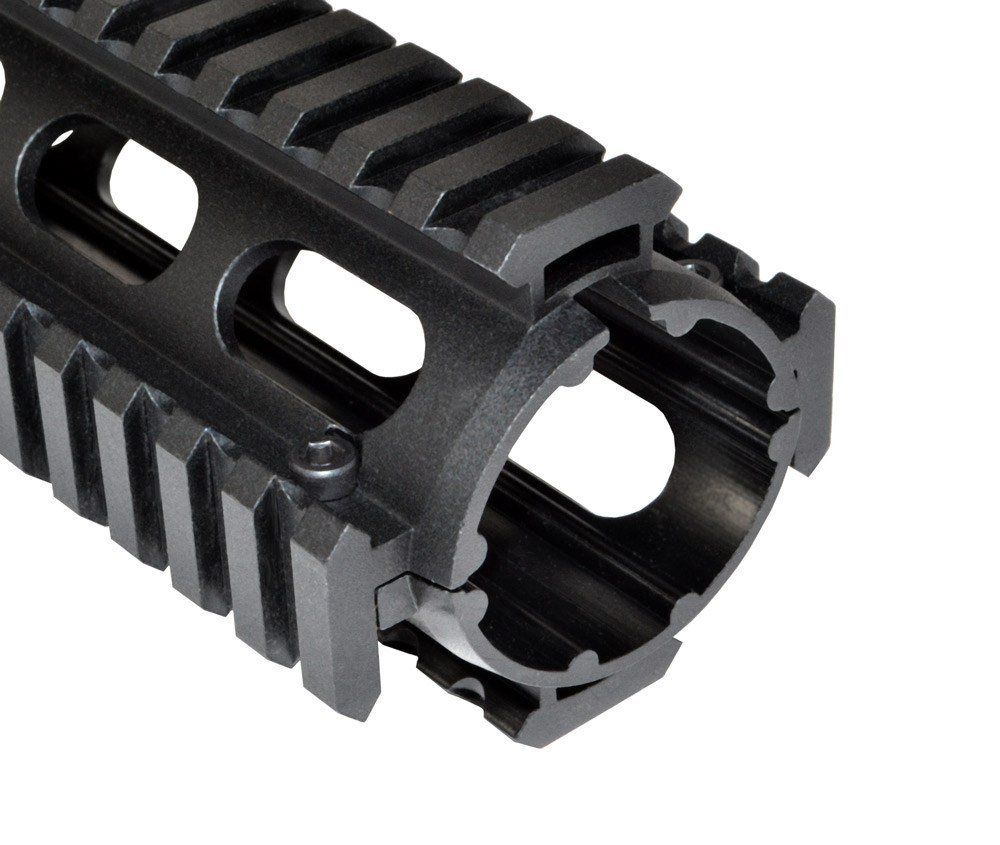Low Profile 2 Piece Drop-in Quad Rail For .308 DPMS