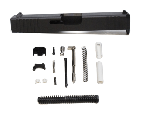 Glock Slide with Installed Sights and Parts Kit