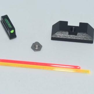 Steel Fiber Optic Standard Height Glock Sights